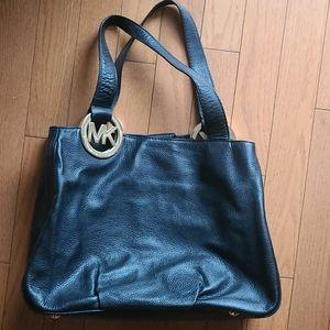 Michael Kors Leather Shoulder Bag (black)